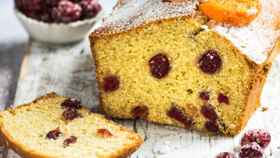 Cranberry Clementine Pound Cake